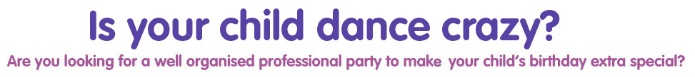 Book a DanceBugs birthday party, for kids aged 3-12 years!