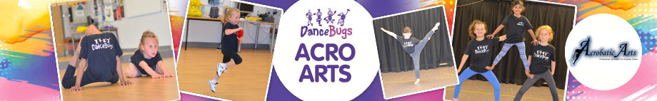 Dance Bugs offers a unique acro class, open from aged 3 and above!
